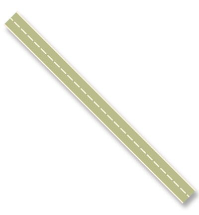 Katoen lint - Stitched Groen (3 meter)