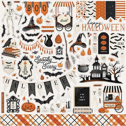 Carta Bella stickers - Halloween Market