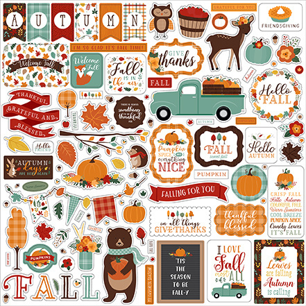 Echo Park Stickers - Hello Fall