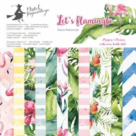 "6"" PaperPad Piatek13 - Let's Flamingle"