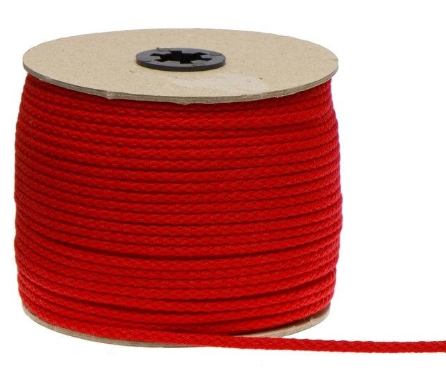 Katoen koord 5mm - Rood