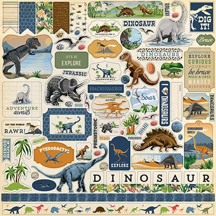 Carta Bella stickers - Dinosaurs