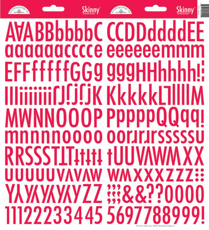 Doodlebug Skinny Stickers - Ladybug Rood
