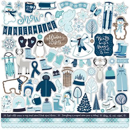 Echo Park stickers - Winter Magic