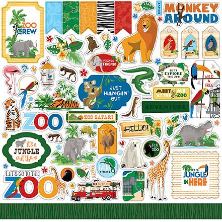 Carta Bella stickers - Zoo Adventure