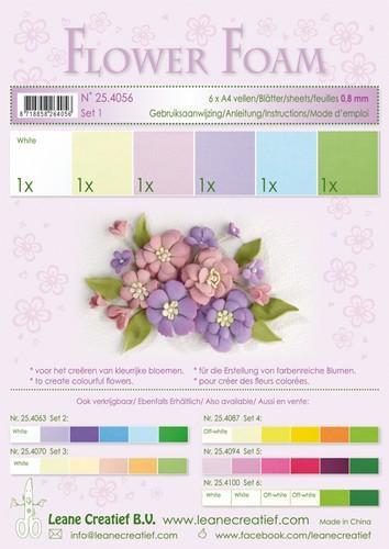 Flower Foam set 1 - Pastelkleuren