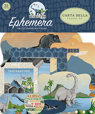 Die-Cuts Carta Bella - Dinosaurs