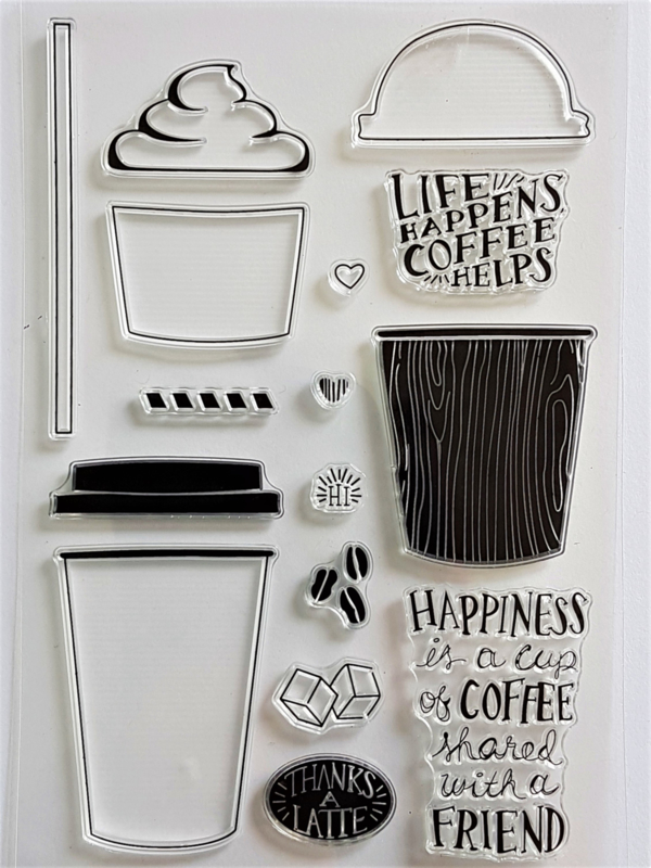 Clear Stamp - Life Happens Coffee Helps