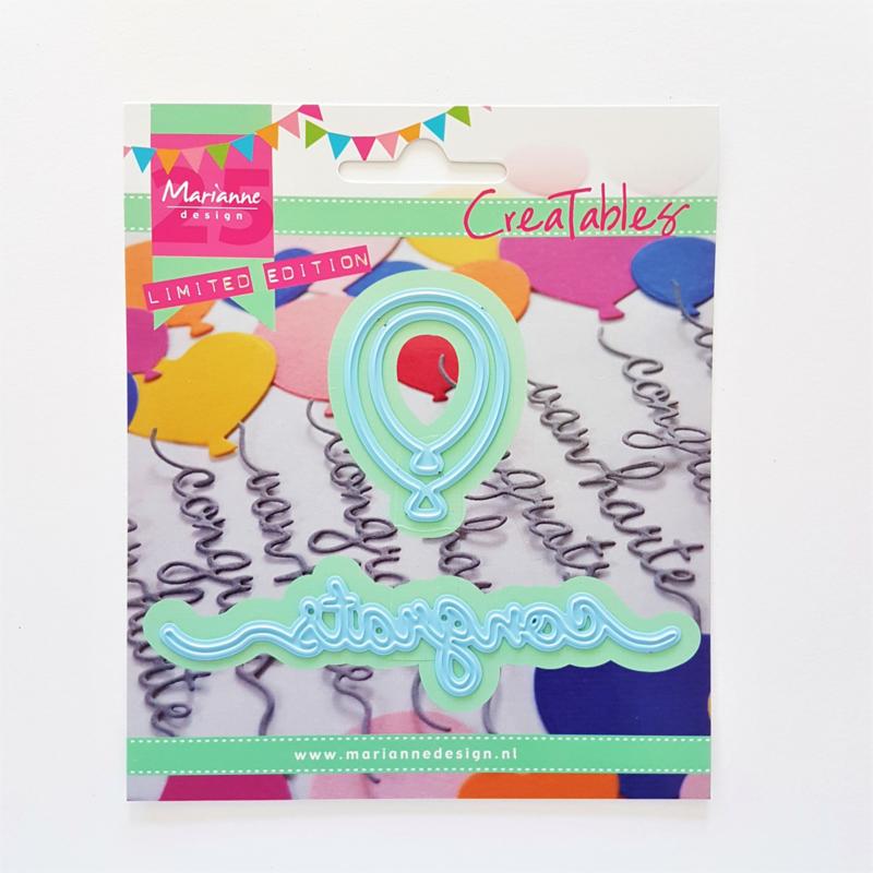 Snijmal Marianne Design - Congrats & Ballonnen