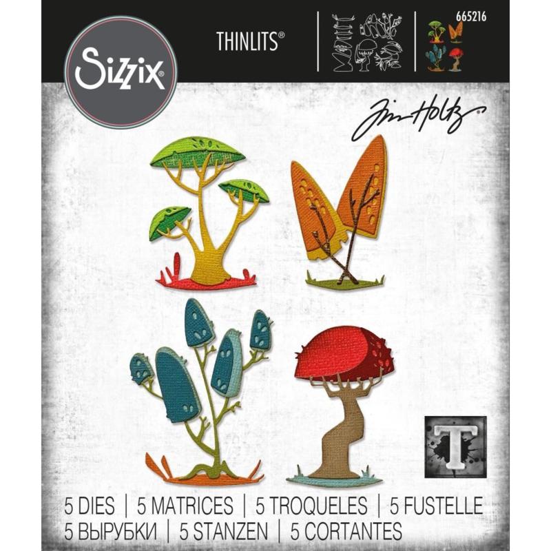 Snijmal Sizzix - Funky Paddenstoelen