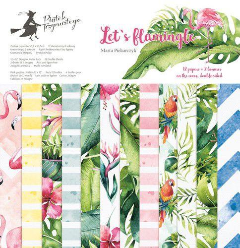 "12""PaperPad Piatek13 - Let's Flamingle"
