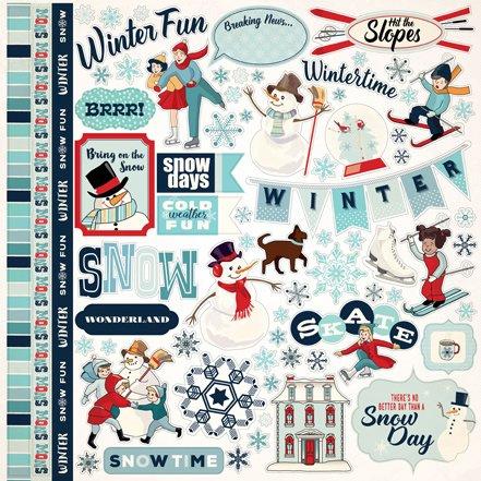 Carta Bella stickers - Snow Fun