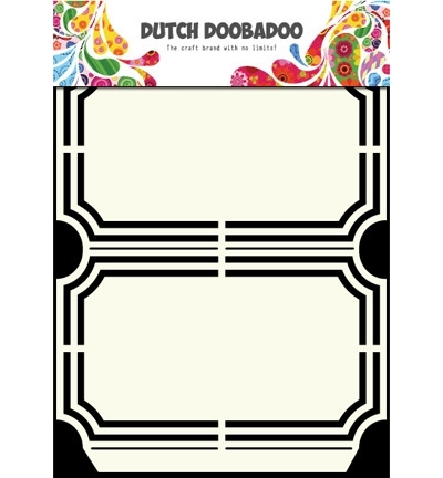 Dutch Doobadoo Stencil - Ticket Mal (A5-formaat)