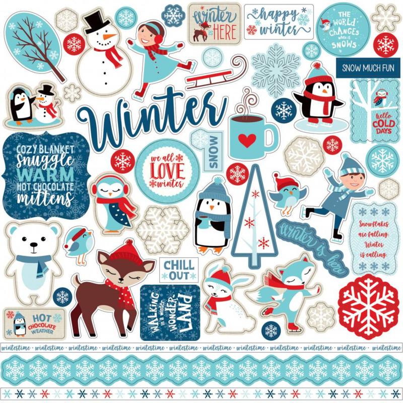 Echo Park stickers - Celebrate Winter