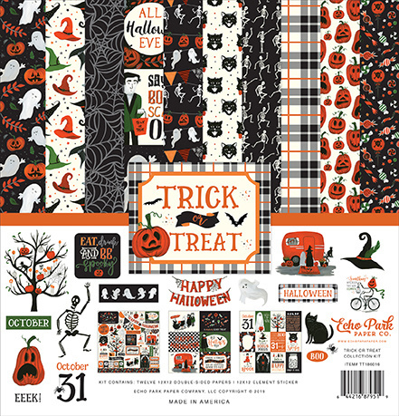 """PaperPad Echo Park - Trick or Treat (12""""Kit)"""