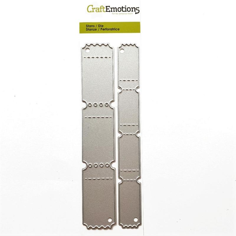 Snijmal CraftEmotions - Ticket Strip