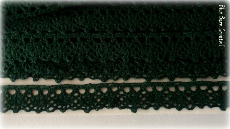 Katoen kant - Donker Groen