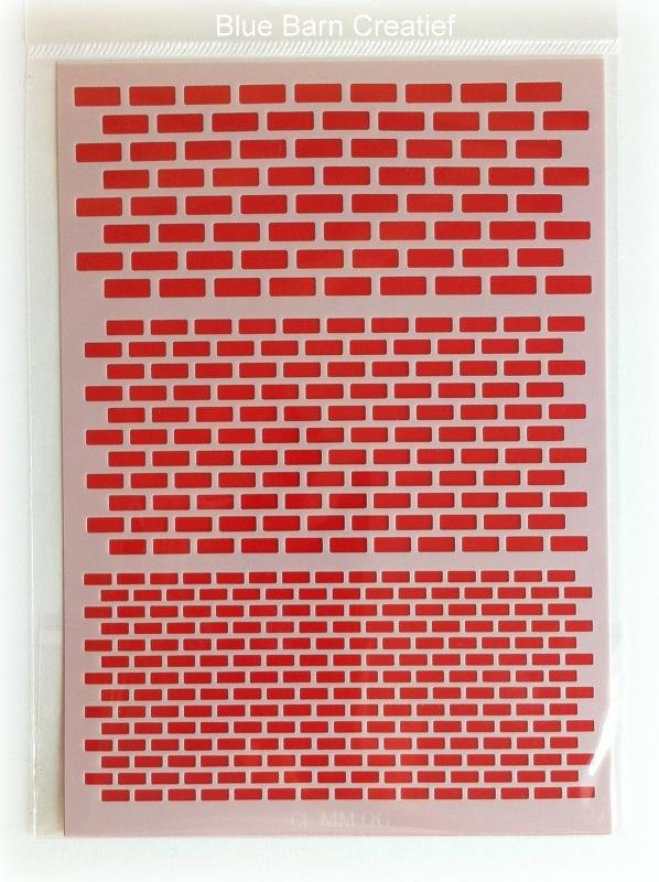 Crealies Mask - Bricks A5