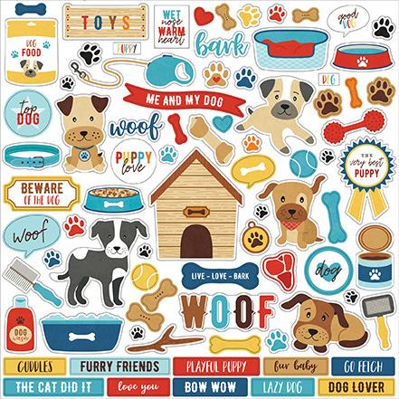 Echo Park stickers - I Love My Dog