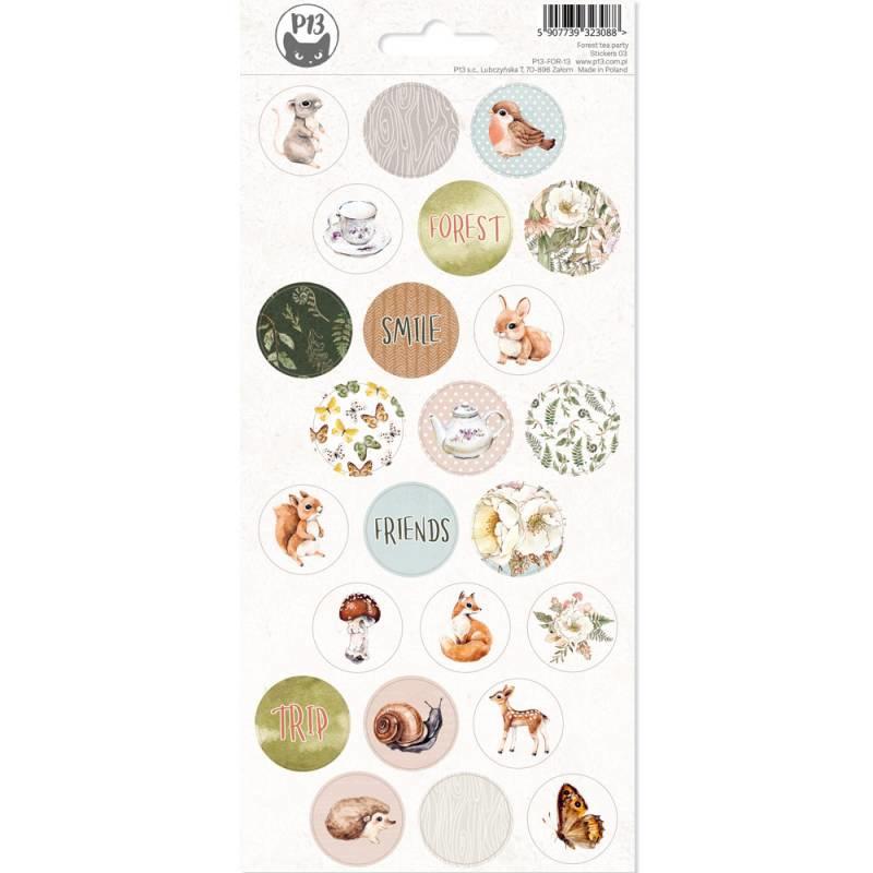 Piatek13 Sticker sheet - Forest Tea Party 03