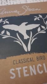 annie sloan stencil  classica  bird