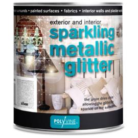 polivine glitter  zilver 500 ml