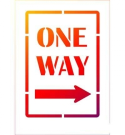One way  sjabloon