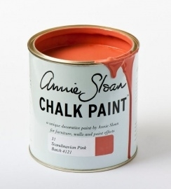 Scandinavian pink annie sloan chalk paint