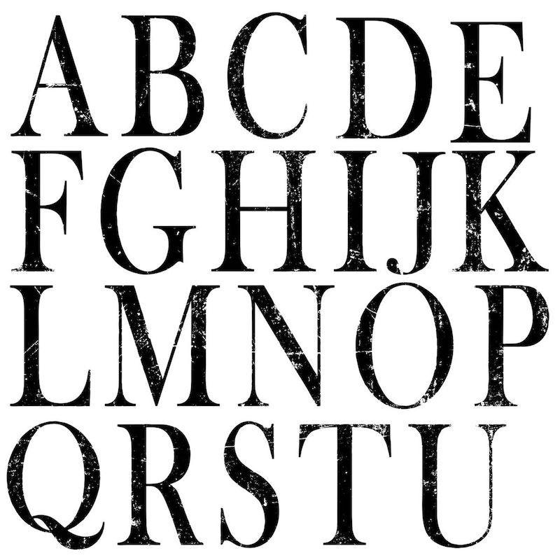 I.O.D stamps alfabet