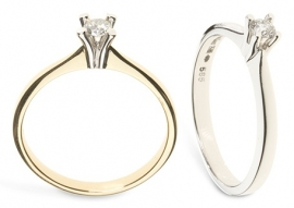 gouden ring met diamant 0.10ct solitair model eternal