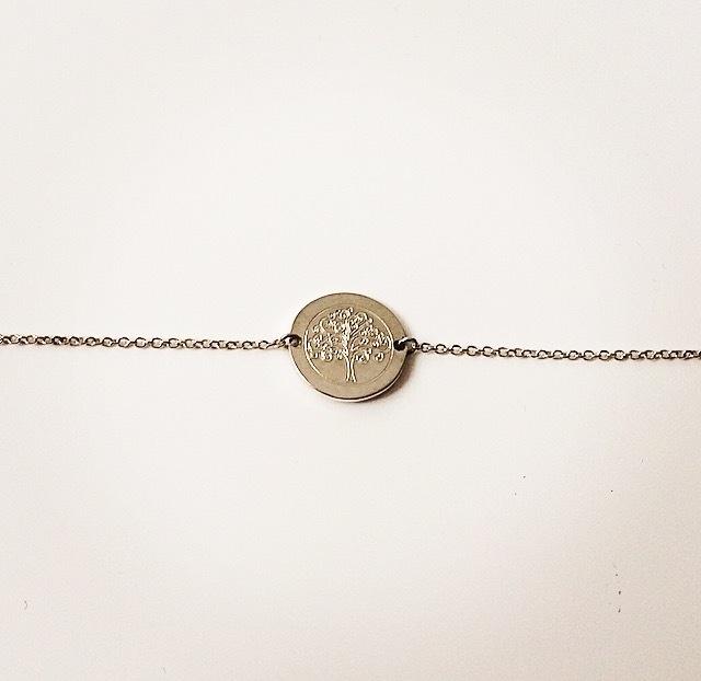 Zilveren armband met levensboom