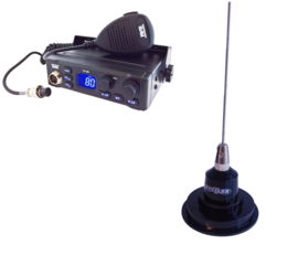 Team TS-9M + Hustler IC-100 Magneetantenne