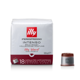 Illy Blend, donkere branding, espresso