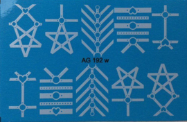 Airbrush Waterdecal   AG 192 White