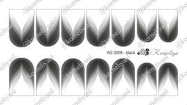 Airbrush Waterdecal   AG 0008 Black