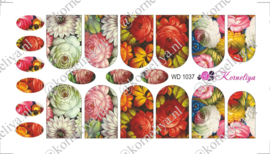 Water Decal - Nail Wrap WD 1037