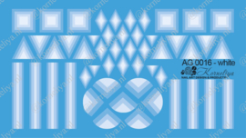 Airbrush Waterdecal   AG 0016 White