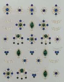3D Jewels  DeLuxe - DL12 Shiny Emerald
