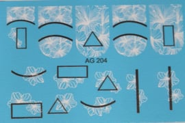 Airbrush Waterdecal   AG 204 Black/White