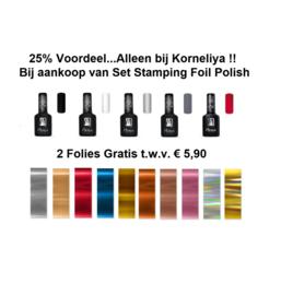 Moyra Foil Polish For Stamping 5 flesjes met 2 gratis Folie