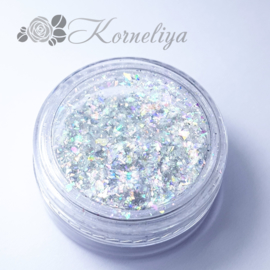 Korneliya Flakes Galaxy Glass