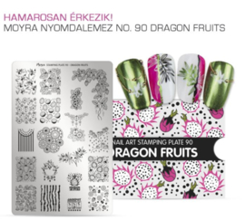 Moyra Stamping Plate 90 Dragon Fruits