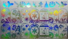 Korneliya Folie Decal 121 Holografisch Zilver - Kerst Design 121