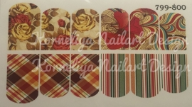Water Decal Nail Wrap 799-800