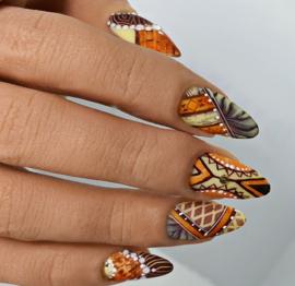 Step-by-Step Set 3 met verschillende nail art technieken