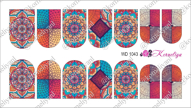Water Decal - Nail Wrap WD 1043