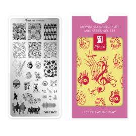 Moyra Mini Stamping Plate 119 Let The Music Play