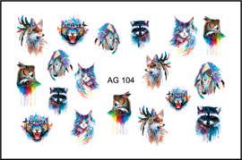 Korneliya Airbrush Waterdecal   AG 104