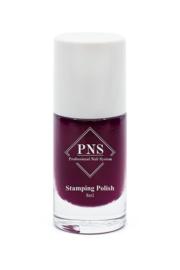 PNS Stamping Polish No.62 Burgundy Cherry