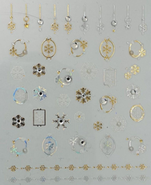Korneliya 3D Nail Jewels DeLuxe - DL08   Snow and Diamonds